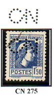 Perforé France Type Marianne D'Alger N° 639 Perf Ref Ancoper CN 275 - Perforés