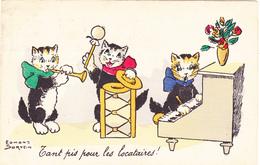 50/ Getekende Kaart, 3 Poezen, Katten Maken Muziek, Edmond Sornein, 1926 - Illustratoren & Fotografen