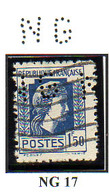 Perforé France Type Marianne D'Alger N° 639 Perf Ref Ancoper NG 17 - Perforés