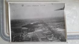 3 EME PHOTO ANCIENNE - USINES UERDINGEN KREFELD DUISBOURG DUISBURG - AVION - AVIATION - ALLEMAGNE - DEUTCHLAND - Aviation
