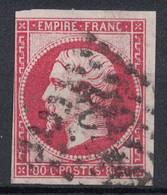 OBLITERATION GROS CHIFFRES 2046 Sur NAPOLÉON N° 17 (VERSO SANS DÉFAUT) - 1853-1860 Napoléon III