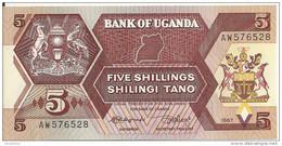 OUGANDA 5 SHILLINGS 1987 UNC P 27 - Uganda
