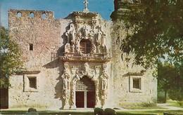 CARTE POSTALE ORIGINALE DE 9CM/14CM : MISSION SAN JOSE SAN ANTONIO THE CHAPEL TEXAS USA - San Antonio