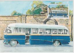 Malta Maximum Card 22 Mi 1671 Buses - The End Of An Era - Bedford SLD, Gudja - Ghaxaq - Malta