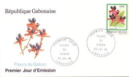 GABON  FDC  FLOWERS OF GABON (GIUGN180161) - Gabon (1960-...)