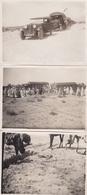 TUNISIE - Lot De 3 Clichés - Manoeuvres SETIF - GABES - Convoi Roulant Dans Le Désert Sud-Tunisien - Voir Description - Tunisie