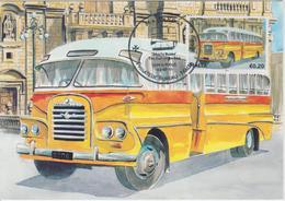 Malta Maximum Card 21 Mi 1670 Buses - The End Of An Era - Ford V8, Zebbug - Siggiewi - Malta