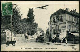 """Cpa  Chaville Restaurant """"au Puits Sans Vin"""" Rue De L'église,  Animée - Chaville"""