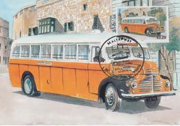 Malta Maximum Card 20 Mi 1669 Buses - The End Of An Era - Leyland Comet, Zurrieq - Malta