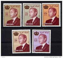 MAROC - 1021/1025** - S.M. LE ROI HASSAN II - Morocco (1956-...)
