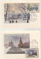 ART PAINTING RUSSIA URSS CCP, MAXIMUM CARD 1974, 2 MAXIMUM CARD PAINTING, CANCEL FIRST DAY - Art