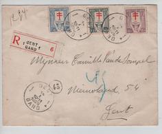 TP 234/236 Antituberculeux Surtaxe S/L.Recommandée C.Gent 14/1/1926 V.Gand AP2085 - Belgique