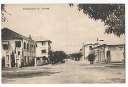 Congo Belge Leopoldville Avenue Vue Générale Carte Postale Ancienne - Belgian Congo - Other