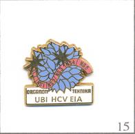 """Pin's Médical / Santé - Marque """"UBI"""" - Test De Détection Du Virus De L'Hépatite C. Est. Arthus Bertrand. T608-15 - Medical"""