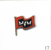 """Pin's Télévision / Chaîne Musicale """"MCM"""" (Groupe Lagardère) - Version Drapeau Rouge. Est. Arthus Bertrand. T608-16 - Medias"""