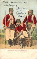 Italie - Costume Di Orgosolo, Sardegna (costume, Fusil) (colorisée) - Autres Villes
