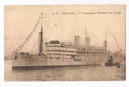 Congo Belge S.S. Albertville Compagnie Maritime Carte Postale Ancienne - Belgian Congo - Other