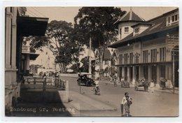 INDONESIA-JAVA-BANDOENG Gr-POSTWEG-1927-REAL PHOTO-VIAGGIATA - Indonesia