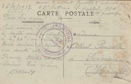 Cachet Militaire Commission De Gare TOULOUSE ( Haute Garonne ) 1917 Sur Carte Postale Ecole Vétérinaire - Guerre De 1914-18