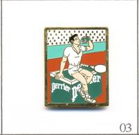 Pin's Sport - Tennis / Roland Garros - Sponsor Perrier. Est. Arthus Bertrand. T609-03 - Tennis