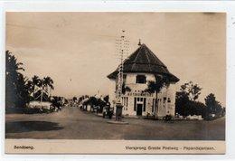 INDONESIA-JAVA-BANDOENG-VIERSPRONG GROOTE POSTWEG-PAPANDAJANLAAN-1927-REAL PHOTO-NON VIAGGIATA - Indonesia