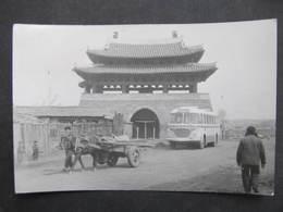 AK PHYONGYANG 1959 Bus Gelaufen!! RR!  /  D*32734 - Korea (Nord)