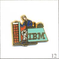 Pin's Sport - Tennis / Roland Garros 1992 - Sponsor IBM  - Cartouche Bleu Marine. Est. Arthus Bertrand. T609-12 - Tennis