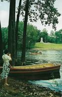 CARTE POSTALE ORIGINALE DE 9CM/14CM :  SANARAC RIVER AND SAMUEL DE CHAMPLAIN MONUMENT AT PLATTSBURGH NEW YORK  USA - NY - New York