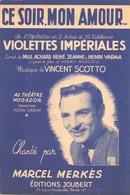 PARTITION CE SOIR MON AMOUR MARCEL MERKES - Partitions Musicales Anciennes