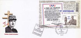 BLOC : 1ER JOUR.70EME ANNIVERSAIRE DE L APPEL DU 18/6/1940. 18/06/2010.T.B.ETAT.PETIT PRIX - Blocs Souvenir