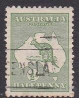 Australia SG 1 1913 Kangaroo Half Penny Green, Used - Used Stamps