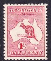 Australia SG 2 1913 Kangaroo 1d Red, Mint Hinged - Mint Stamps