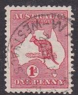 Australia SG 2 1913 Kangaroo 1d Red, Used - Used Stamps