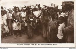 Cpa Photo - YEMEN -  ADEN <  BEDOUIN DANCERS; FAIR DAY AT SHEIKH OTHMAN - Yemen