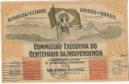 Commissao Executiva Do Centenario Da Independencia Art Card Rio Maximum  To Santa Clara Cuba - Brésil