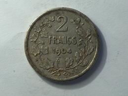 BELGIQUE 2 FRANCS 1904 ARGENT SILVER Belgium - 07. 1 Franc