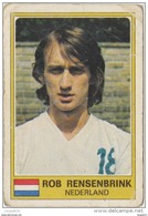 PANINI EURO FOOTBALL 1977 ROBBY RENSENBRINK ANDERLECHT NEDERLAND - French Edition