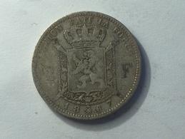 BELGIQUE 2 FRANCS 1867 ARGENT SILVER Belgium - 07. 1 Franc