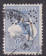 Australia SG 9 1913 Kangaroo 6d Ultramarine Small OS, Used - Used Stamps