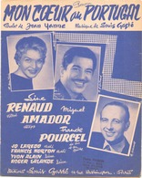 PARTITION MON COEUR AU PORTUGAL LINE RENAUD MIGUEL AMADOR FRANCK POURCEL - Partitions Musicales Anciennes