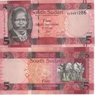 South Sudan  5 Sudanese Pounds 2015   P11 - Soudan Du Sud
