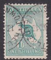 Australia SG 11 1913 Kangaroo One Shilling Emerald, Used - Used Stamps