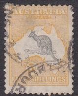 Australia SG 15 1913 Kangaroo 5 Sh Yellow And Grey, Used - Used Stamps