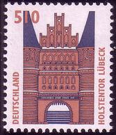 1938A Sehenswürdigkeiten 510 Pf Holstentor ** - [7] Federal Republic