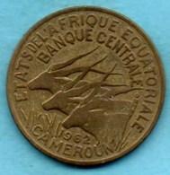 (r65) CAMEROUN / AFRIQUE EQUATORIALE Banque Centrale 25 Francs 1962 - Cameroon