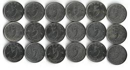 Lot De 18 Pièces De Monnaie 5 Centimes épi 1961-62-63-64 - France