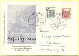GERMANIA - GERMANY - Deutschland - ALLEMAGNE - BUNDESPOST - 1965 - 15 + 20 + Special Cancel Aachen Aquisgrana - Postwert - Ippica