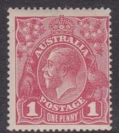 Australia SG 21  1916 King George V,1d Red, Mint Never Hinged - Mint Stamps