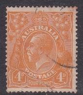 Australia SG 22  1915 King George V,4d Orange, Used - 1913-36 George V : Hoofden