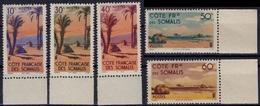 COTE DES SOMALIS Poste 264 à 282 ** MNH Série Complète Bord De Feuille Gomme D'origine (CV 33,60 €) - Unused Stamps